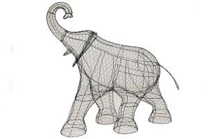 Слон XL, топиар ,фигура для сада