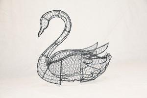 Лебедь, топиар, фигура для сада