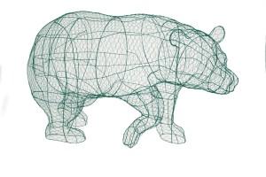 Медведь, топиар, фигура для сада