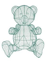 Медвежонок Тедди, топиар, фигура для сада