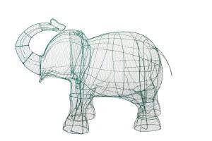 Слоник топиар, фигура для сада