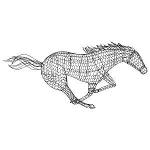 """Конь """"Мустанг"""", топиар, фигура для сада"""