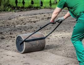 Работы по подготовке газона